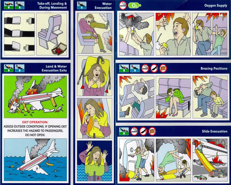 airline safety flight card