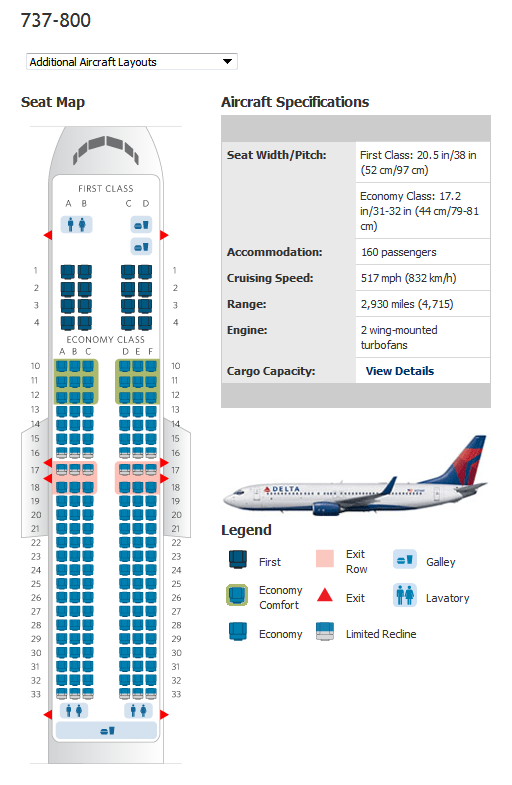 delta boeing 737-800 seating map
