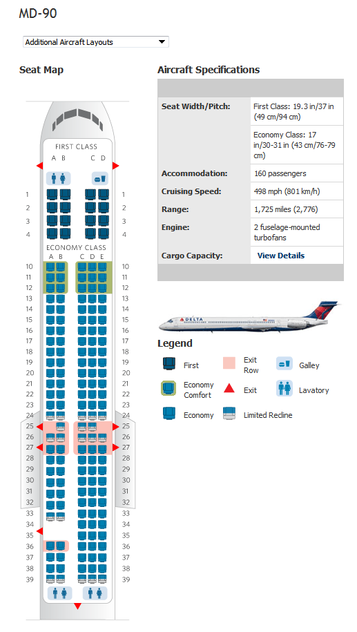 delta md90 seating map