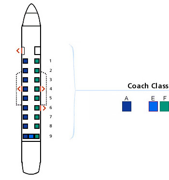 us airways beechcraft 1900 jet seating map aircraft chart