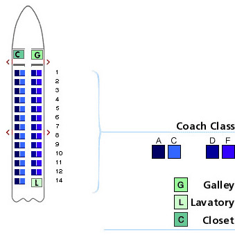 us airways canadair jet seating map aircraft chart