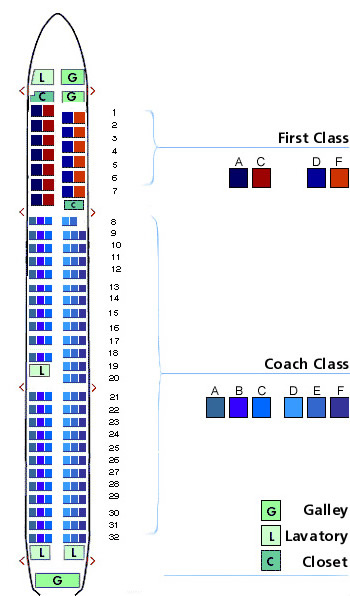 us airways airbus a320 aircraft seating map