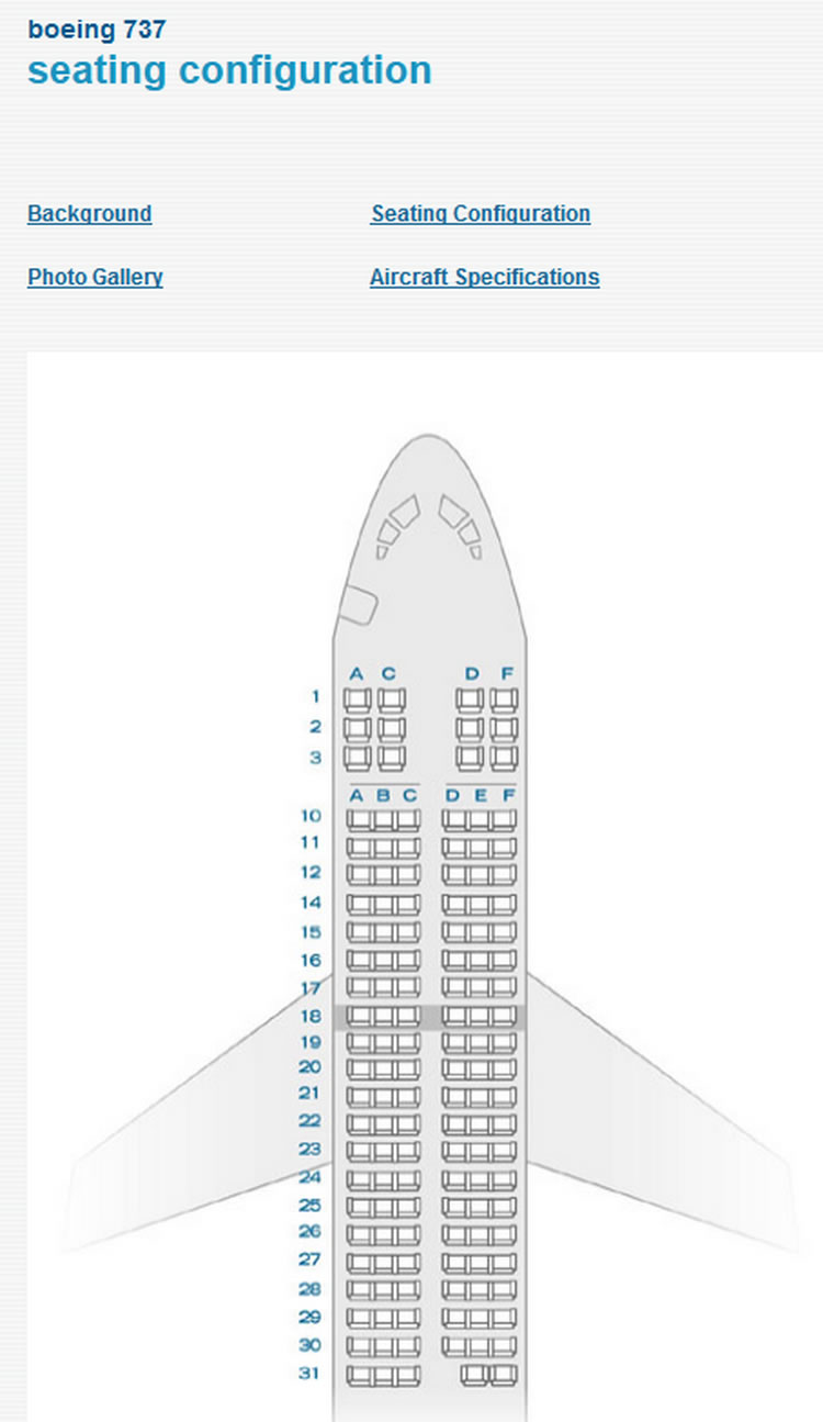 AIR TRAN AIRTRAN AIRLINES BOEING 737 AIRCRAFT SEATING CHART