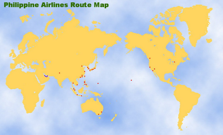 PHILIPPINE AIRLINES ROUTE MAP