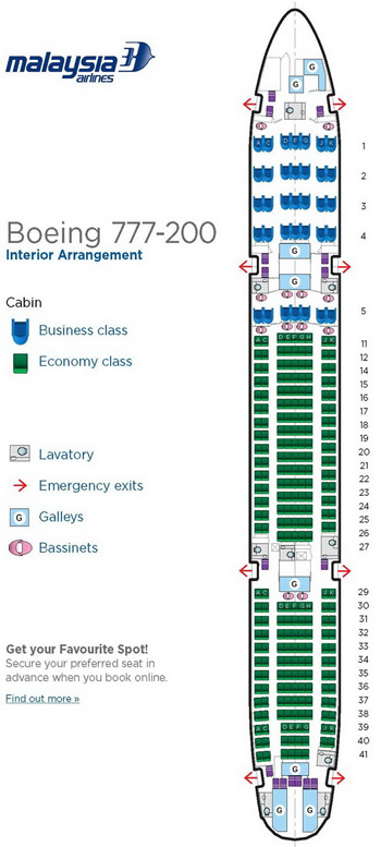 MALAYSIA AIRLINES BOEING 777 SEATING CHART