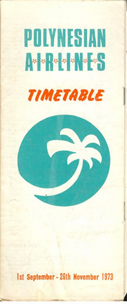 VINTAGE AIRLINE TIMETABLE polynesian airlines
