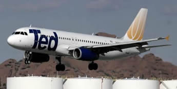TED Airlines Airbus A320 In Flight