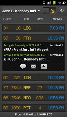 flightboard free android flight tracking app