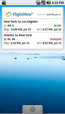 flightview free android flight tracking app