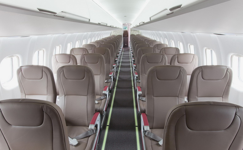 ATR 42 Airplane Interior Photo Of Passenger Seating
