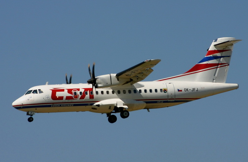 ATR 42 TWIN TURBOPROP AIRCRAFT CSA AIRLINES