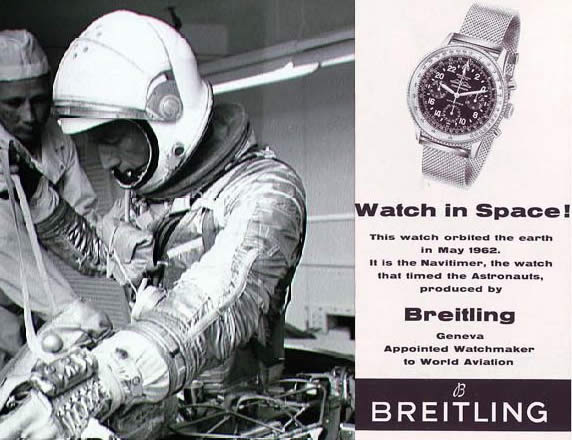 breitling flight watches used in space apollo missions