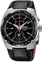Seiko Men's Aviation Flight Sportura watch, black dial, black leather strap