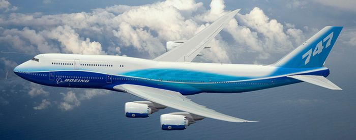 boeing 747-8 intercontinental commercial aircraft