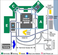 Boston Logan Airport Parking Map Image