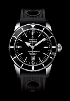 black silver breitling watch