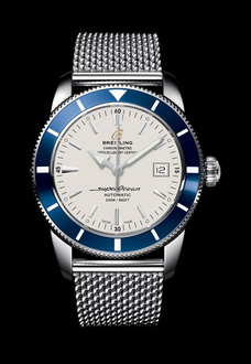 breitling watch with blue dial