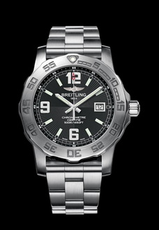 black dial breitling watch