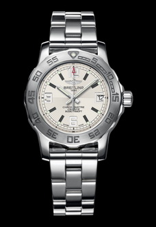 breitling watch with silver and white