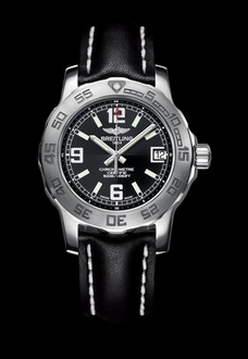 silver black e6b breitling watch