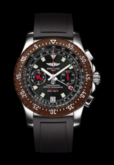 brown breitling watch