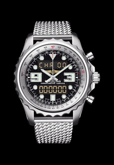 breitling watch silver color