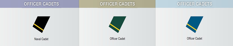 canadian officer cadet chart