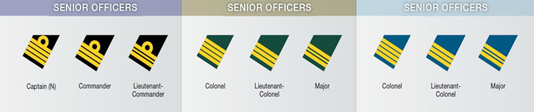 canadian senior military officers chart