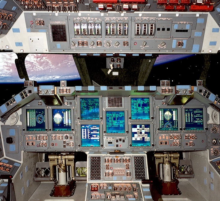 Atlantis Space Shuttle Cockpit Photo