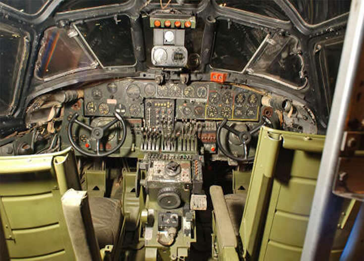 Boeing B-24 Cockpit Photo