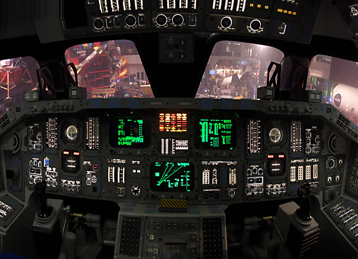 Space Shuttle Cockpit Photo