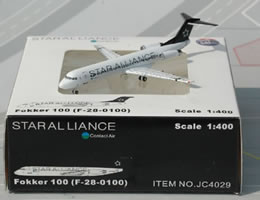 Contact Air Fokker 100 Star Alliance Diecast Airplane Jet
