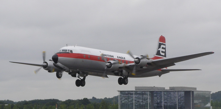 british eagle dc-6 airliner