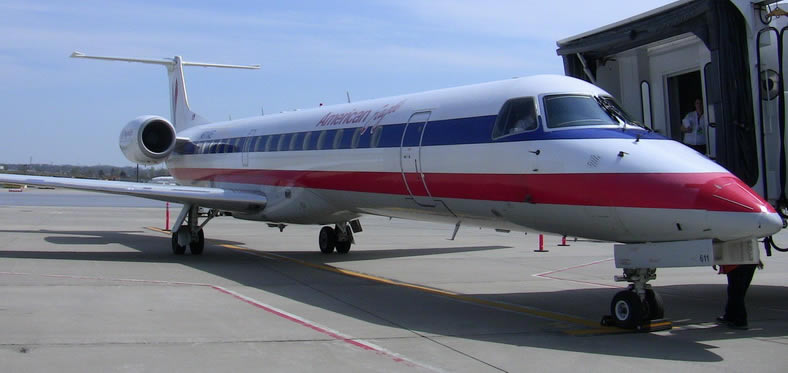 embraer erj145 jet for american eagle airlines