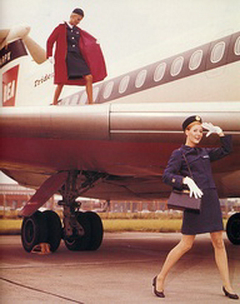 flight attendants from bea airlines british