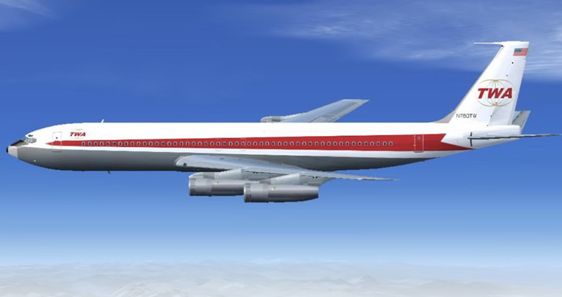twa airlines vintage boeing 707 for fsx screenshot