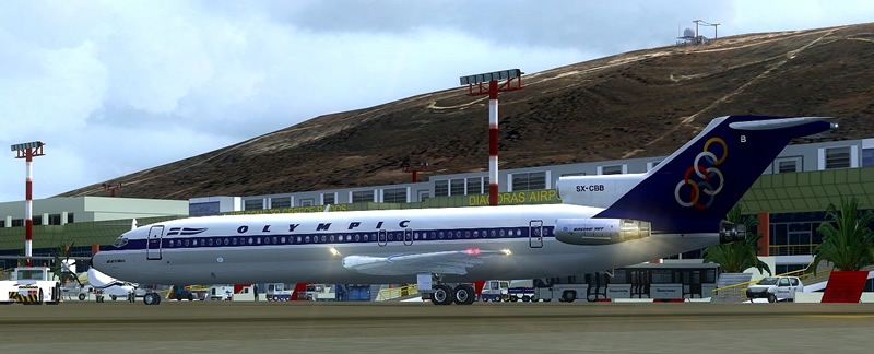 olympic boeing 727 high detail for fsx
