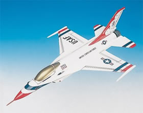 lockheed f16 usaf thunderbirds model