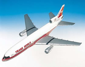 lockheed L1011 twa transworld airplane jet model