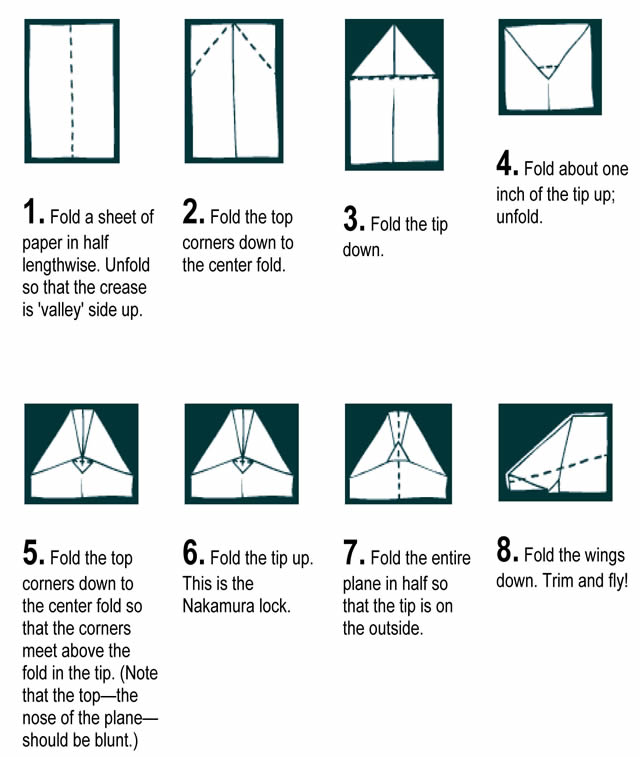 How to easily fold paper to make the perfect flying paper airplane