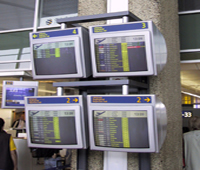 airport departure monitors