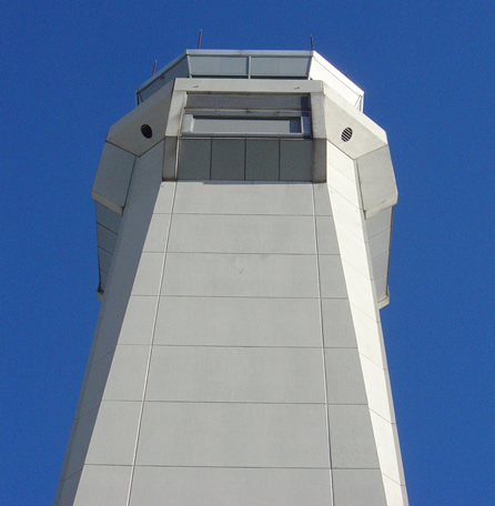 large atc aircraft tower
