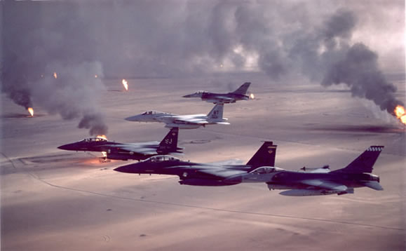 air force aircraft flying over Iraq