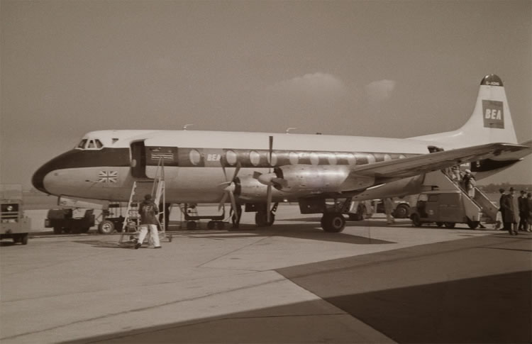 vickers viscount prop airliner aircraft bea airlines