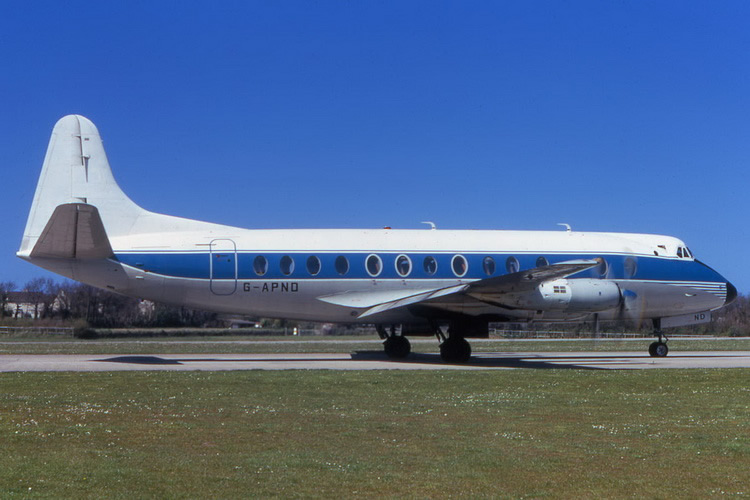 vickers viscount prop airliner aircraft g-apnd