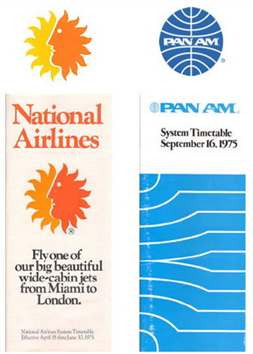 national and pan am timetables