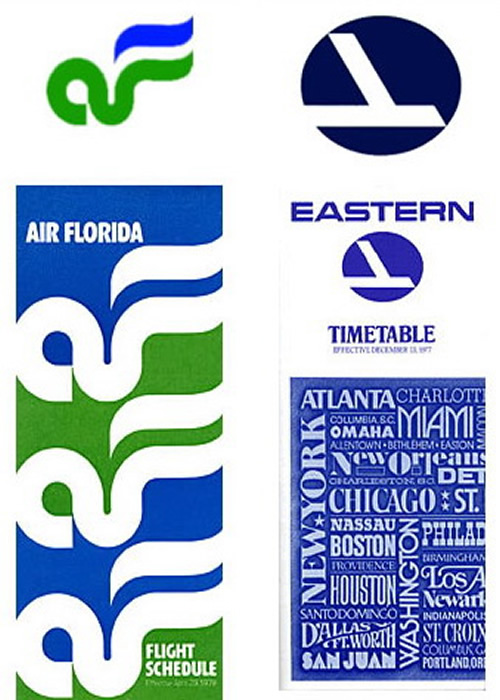 air florida and eastern airlines timetables vintage 1970s