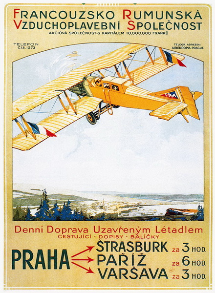 french airshow vintage poster