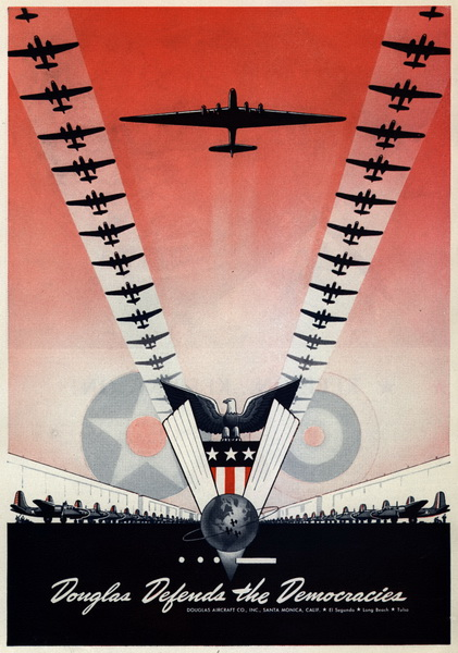 douglas aircraft company aviation poster from world war 2