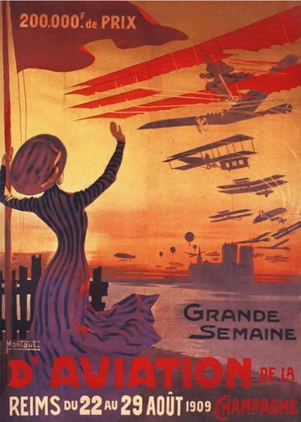 french aviation poster